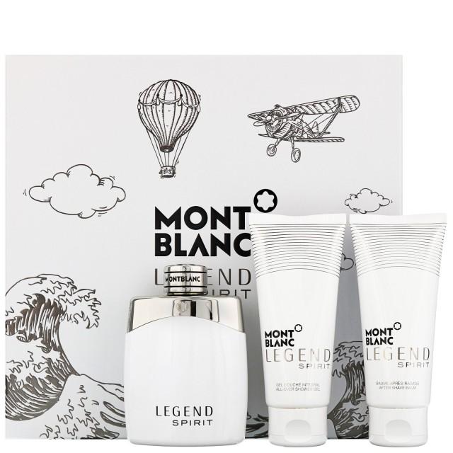 MONT BLANC Legend Spirit SET: EDT 100ml + aftershave balm 100ml + shower gel 100ml