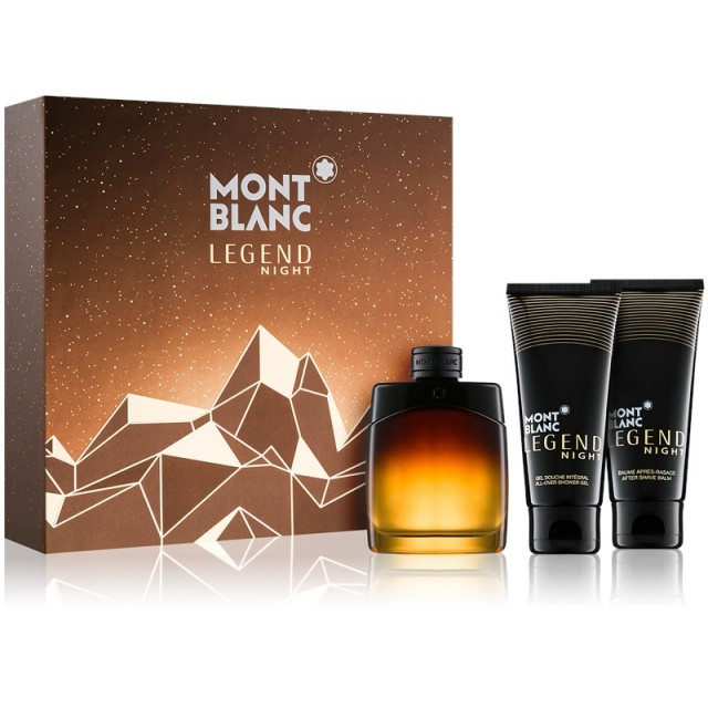 MONT BLANC Legend Night SET: EDP 100ml + aftershave lotion 100ml + shower gel 100ml