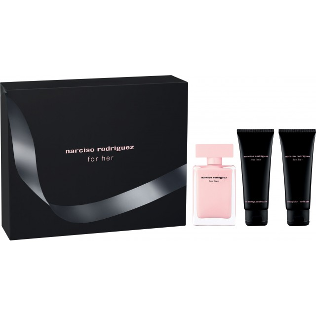 NARCISO RODRIGUEZ For Her SET: EDP 50ml + body lotion 75ml + shower gel 75ml