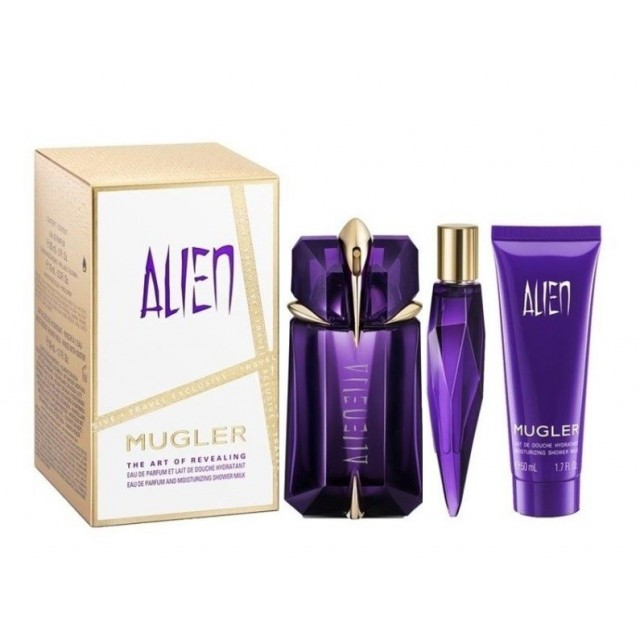 THIERRY MUGLER Alien SET: refillable EDP 60ml +  EDP 10ml + shower gel 50ml