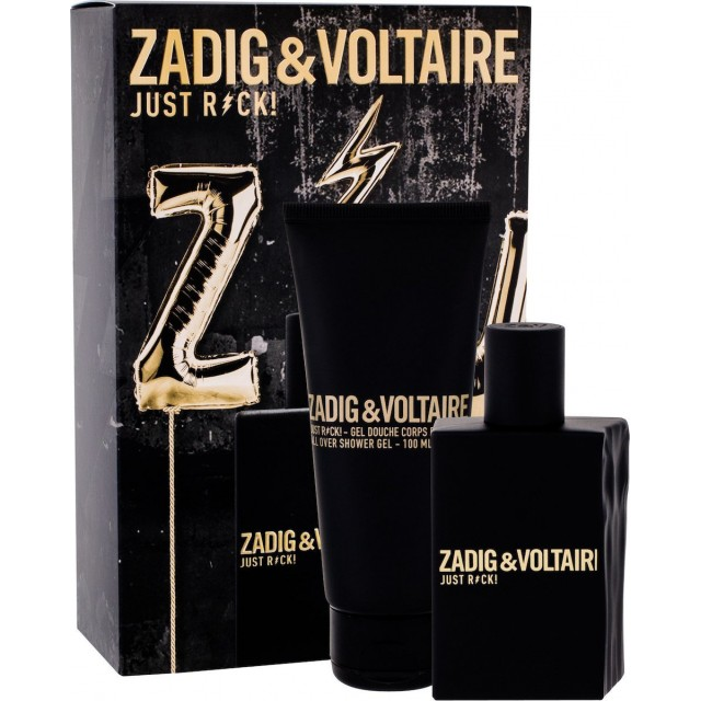 ZADIG & VOLTAIRE Just Rock!  for Him SET: EDT 50ml + shower gel 100ml