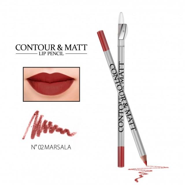 Revers Lip Pencil Marsala Contour &Matt nr2